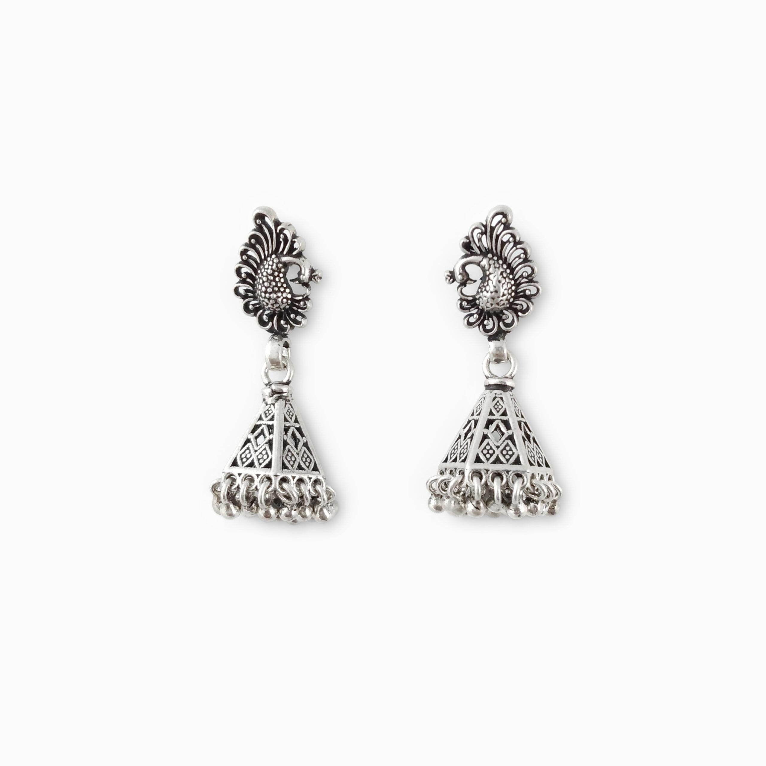 Dancing Peacock Earrings