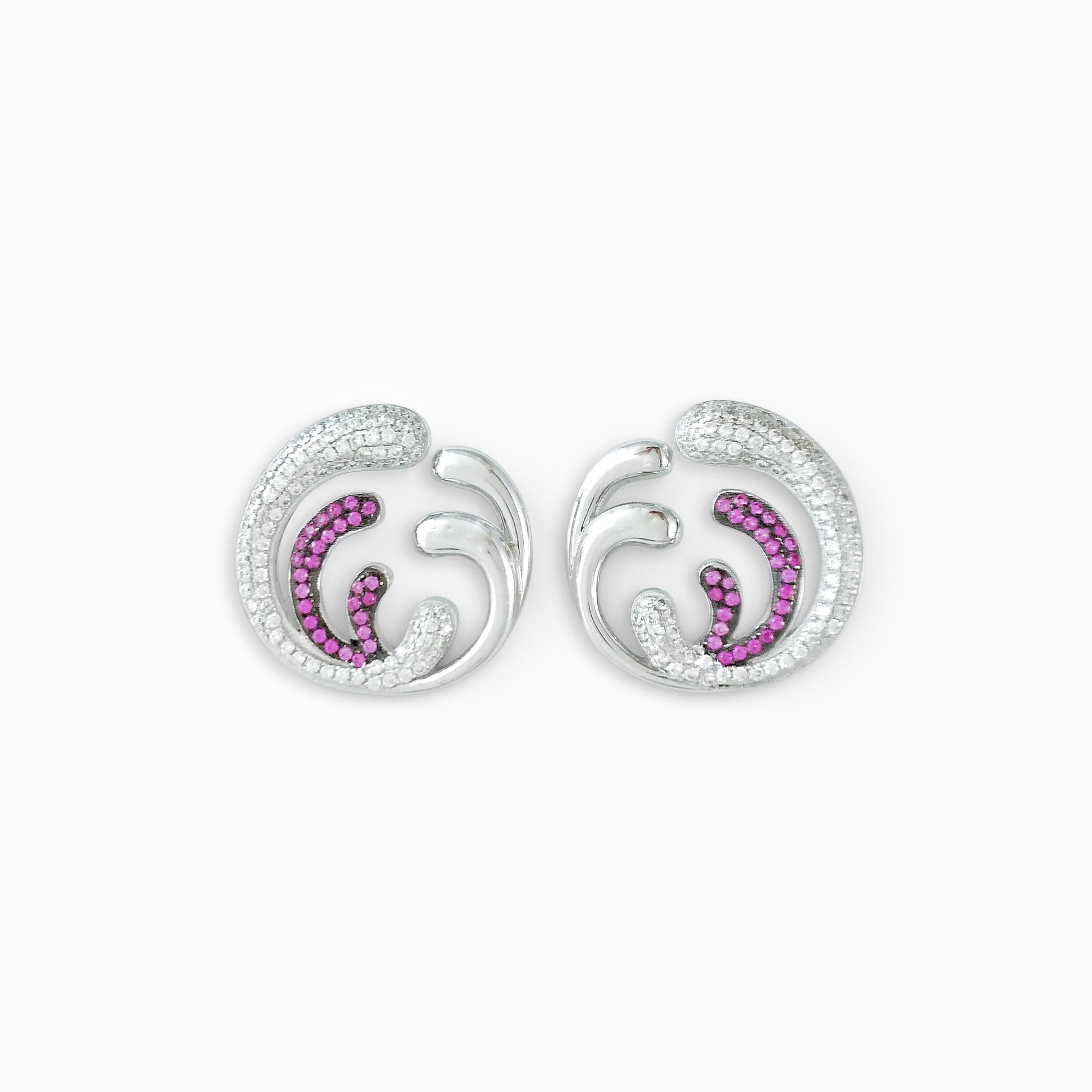 Purple Iris Earrings