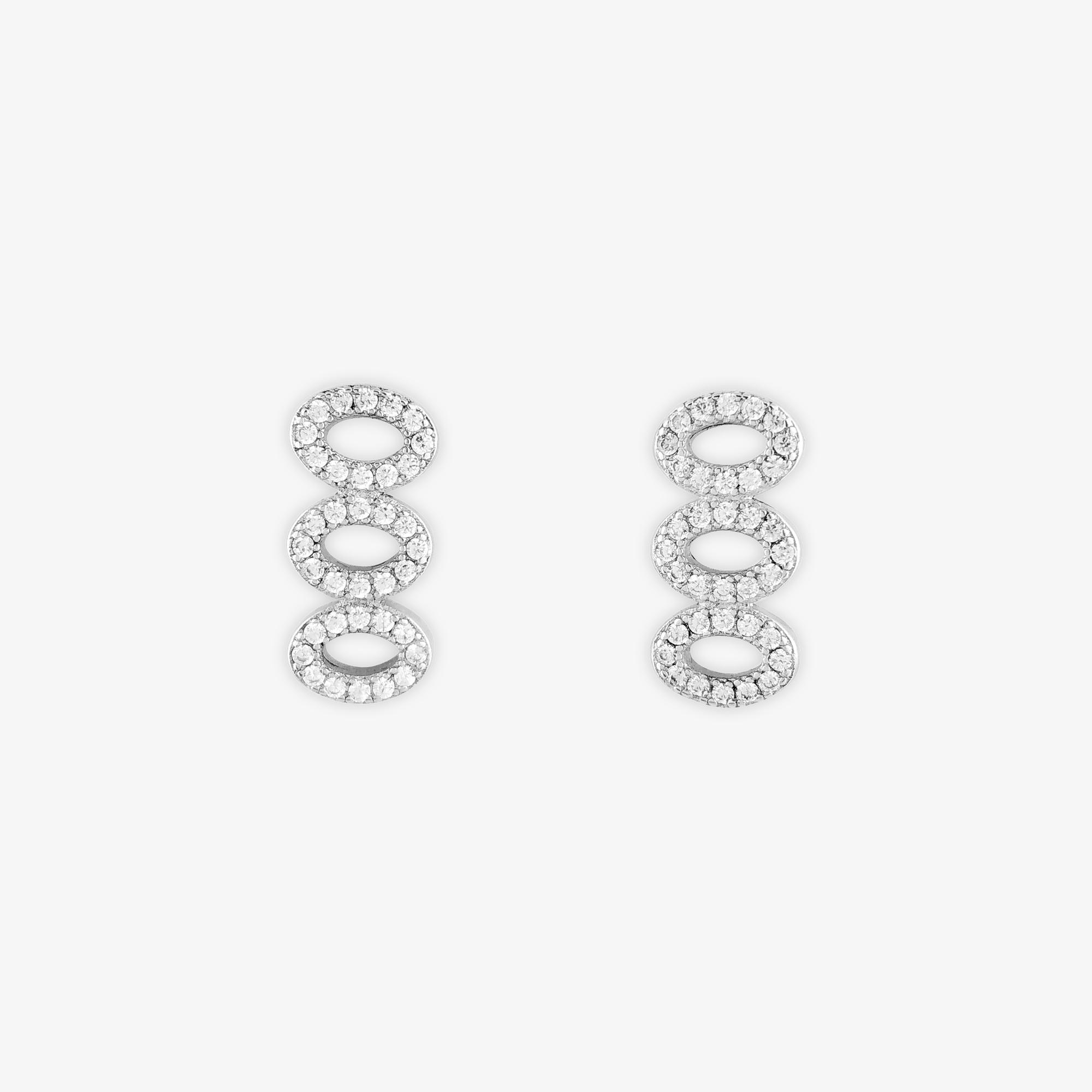 Ellip Silver Earrings