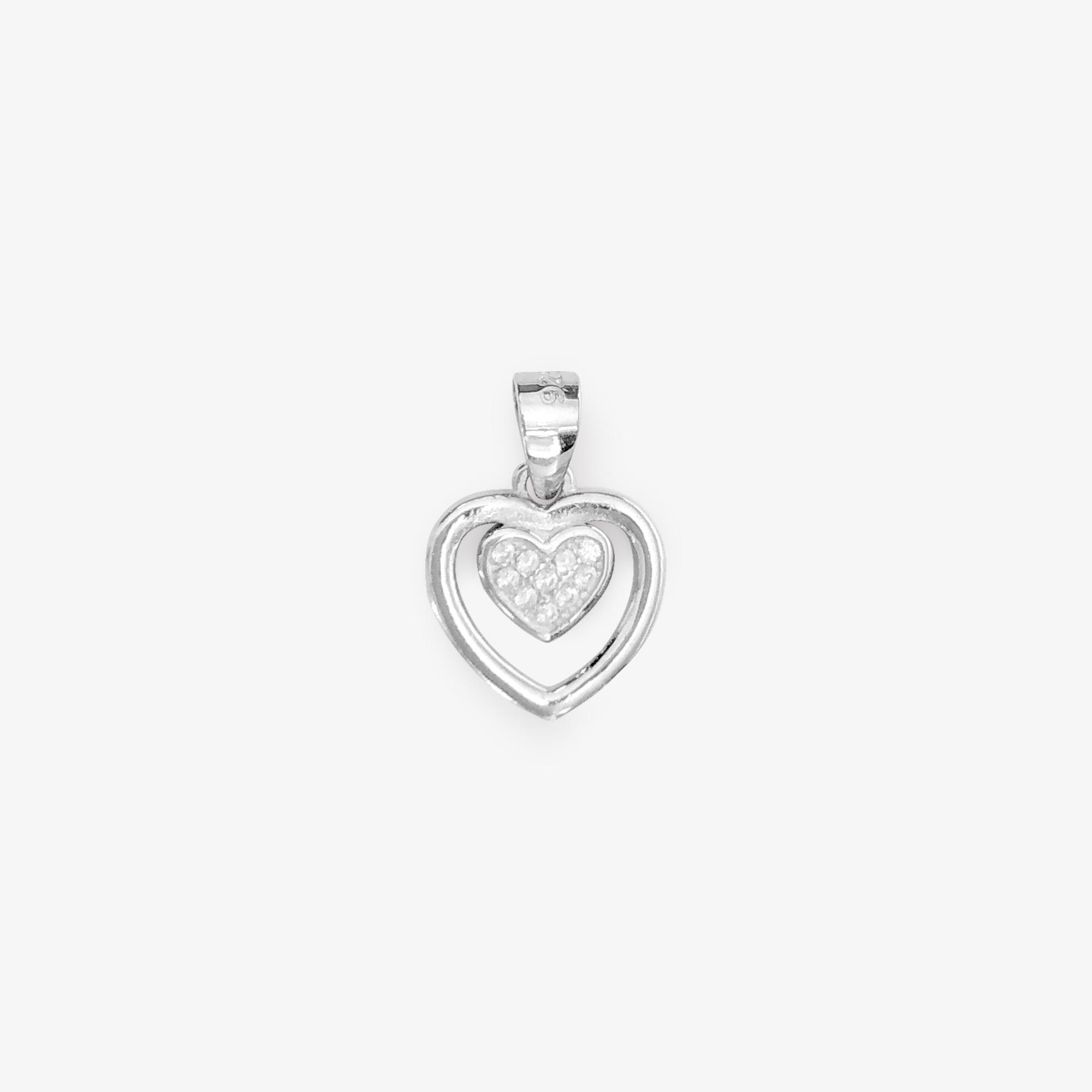 Little Heart Dos Silver Pendant