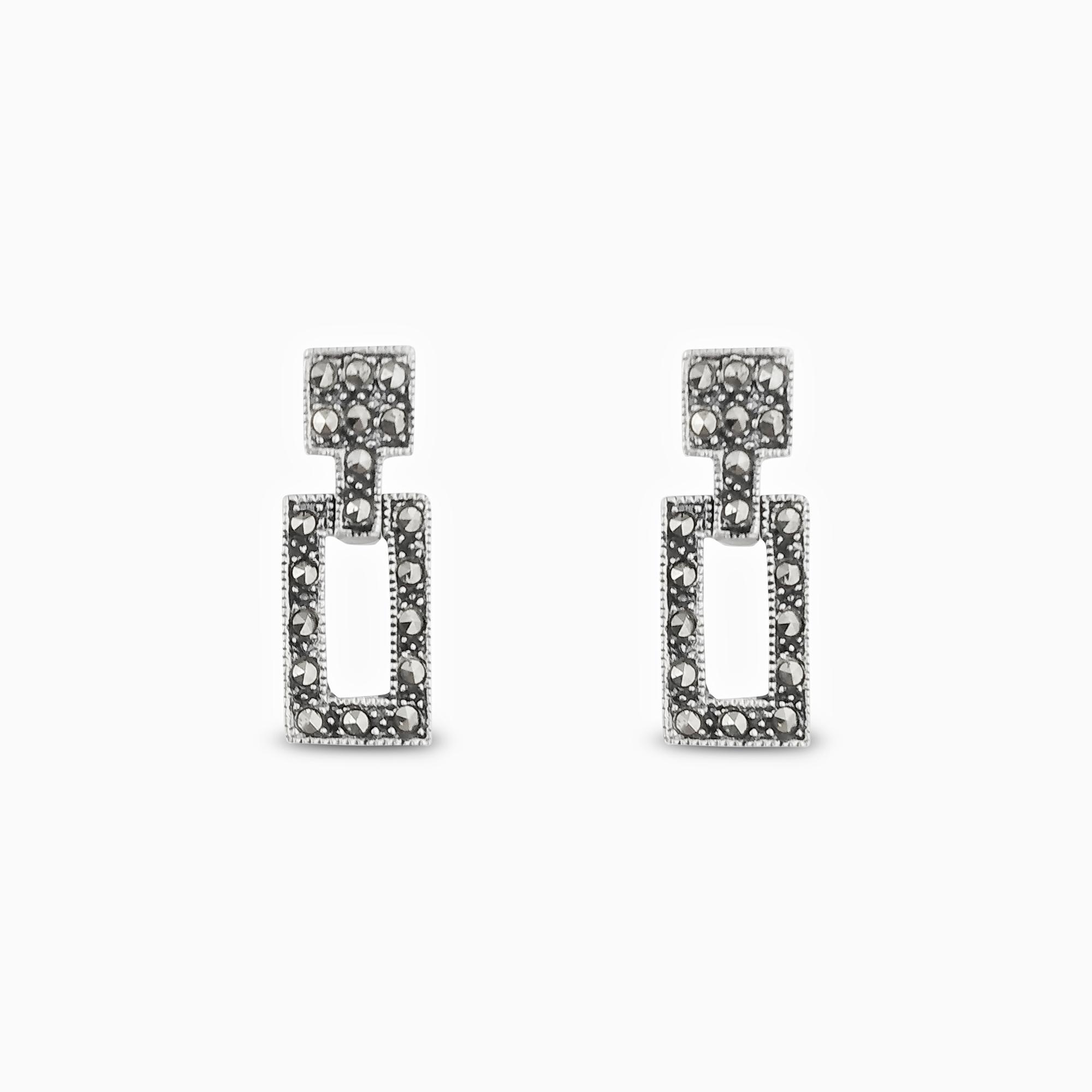 Silver Elegant Dangler Earrings