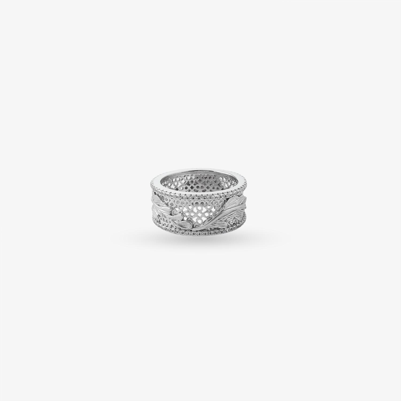 Ethnic Shiny Silver Ring