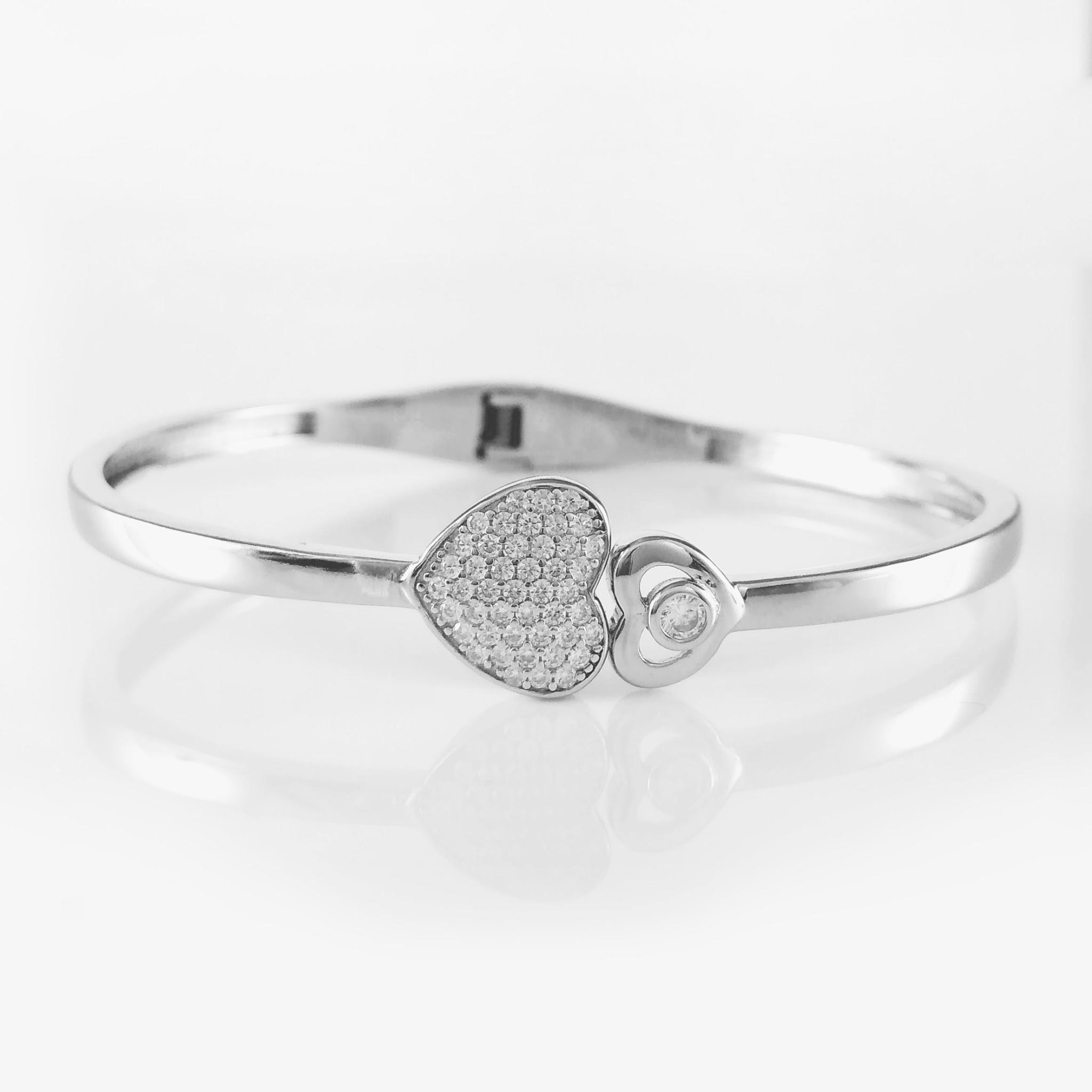 Heart Duo Silver Bracelet