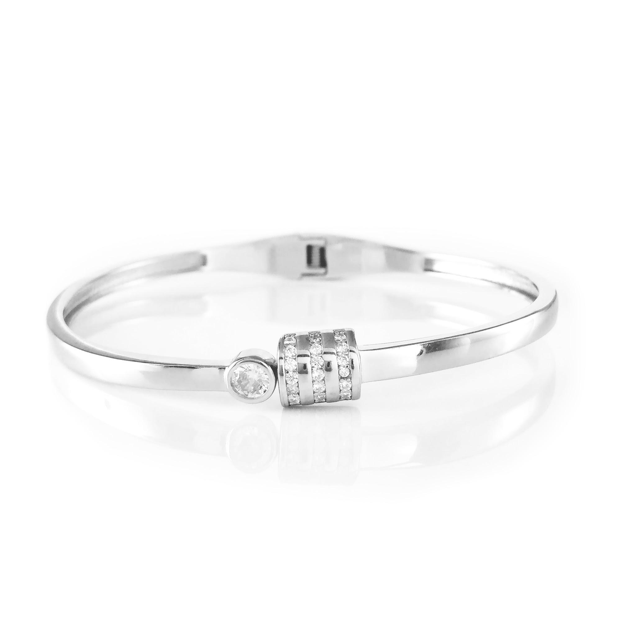 Sleak Punto Silver Bracelet