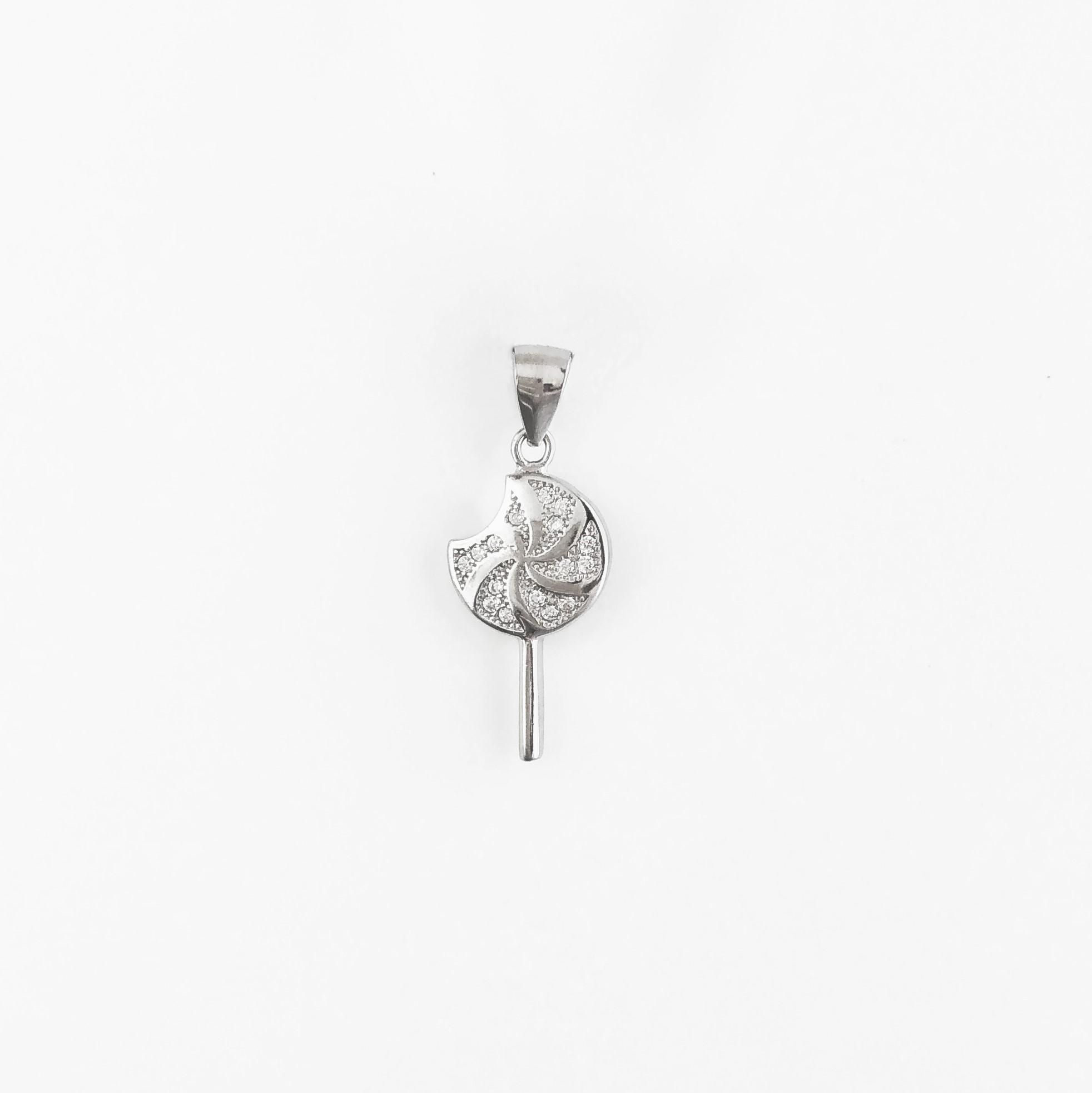 Swirl Candy Silver Pendant