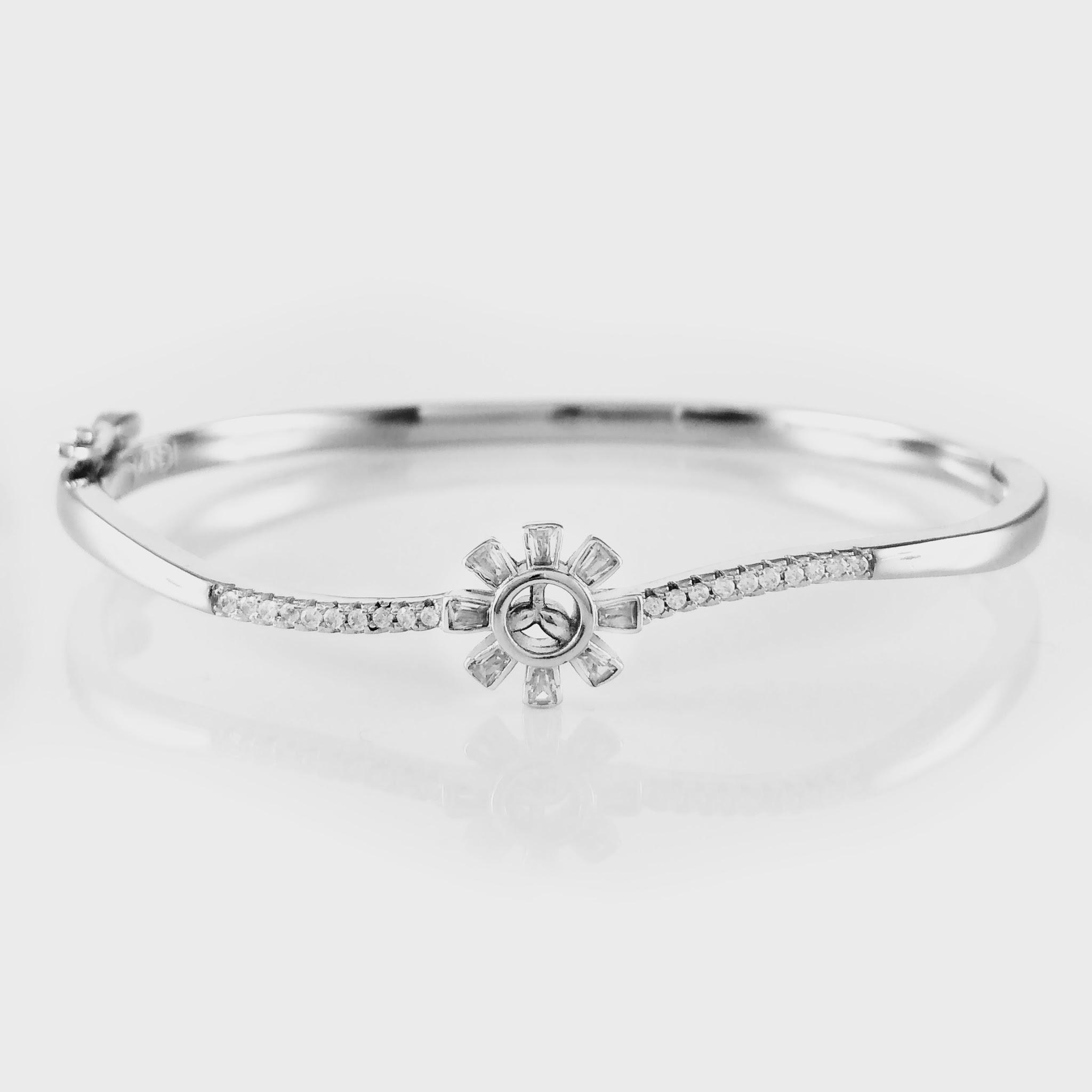 Floral Silver Bracelet